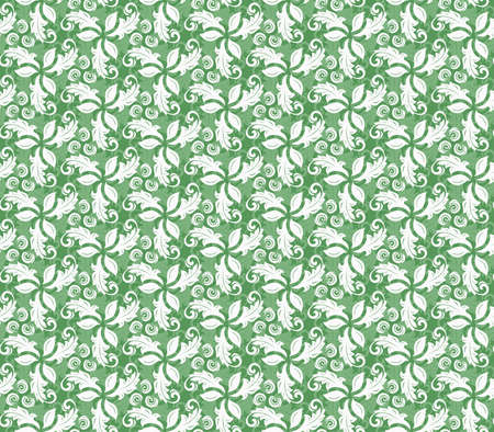fine: Floral green ornament. Seamless abstract background with fine pattern