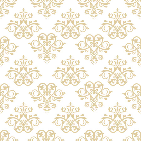 leafs: Oriental classic ornament. Seamless abstract golden pattern