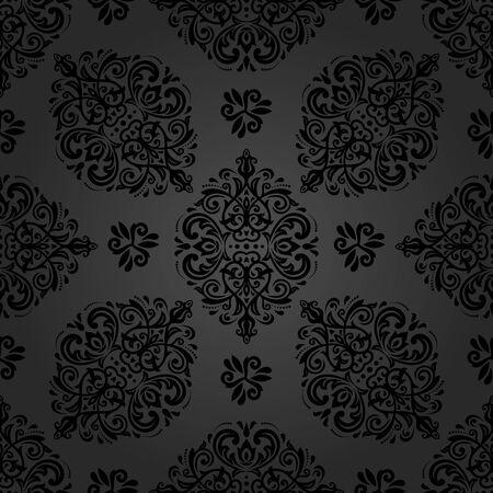 orient: Oriental classic dark ornament. Seamless abstract pattern. Fine orient background Stock Photo