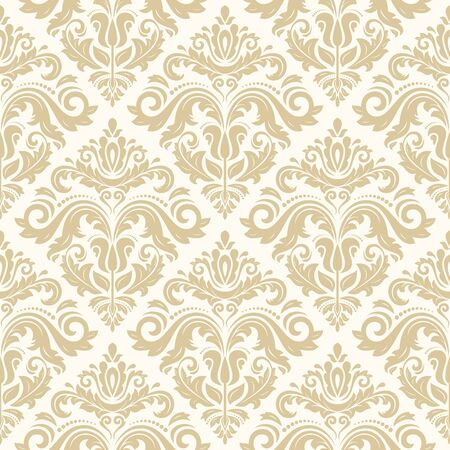 gold leafs: Oriental classic golden ornament. Seamless abstract pattern. Fine orient background for design and decorate