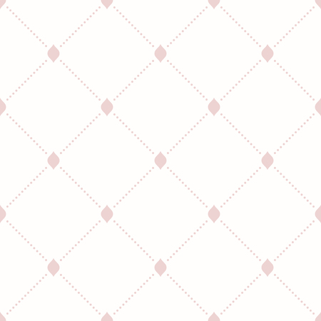 dotted lines: Geometric repeating ornament with diagonal pink dotted lines. Seamless abstract modern pattern