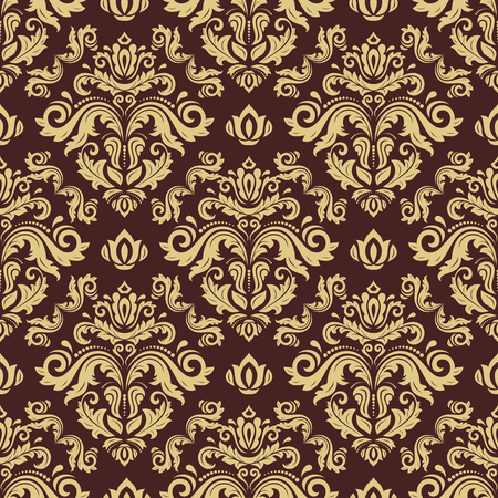Nahtlose orientalische Verzierung im Stil des Barock . Traditionelles klassisches Vektormuster Standard-Bild - 55820780