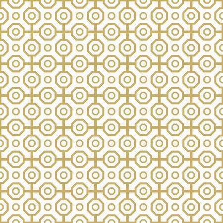 octagonal: Geometric abstract vector background. Seamless modern pattern. Golden octagonal pattern