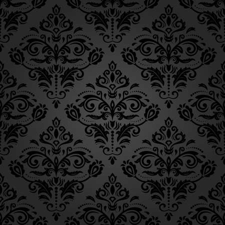 royal person: Oriental vector classic pattern. Seamless abstract pattern with repeating elements. Black asian pattern Stock Photo