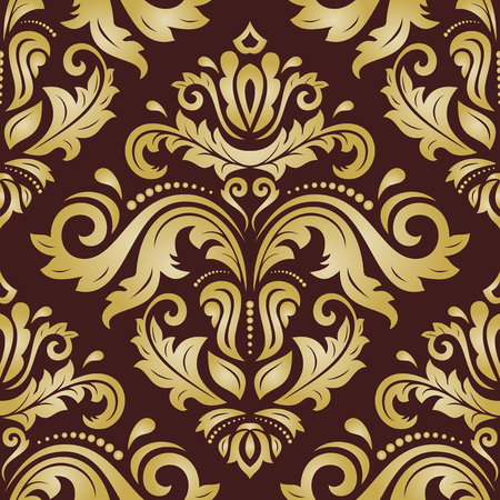 royal person: Oriental vector classic golden pattern. Seamless abstract background with repeating elements