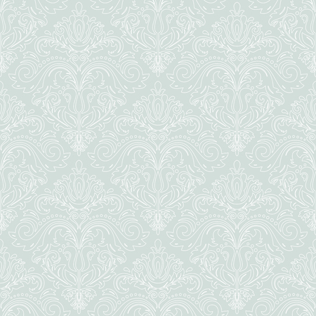 repeating background: Oriental vector classic pattern. Seamless abstract background with repeating elements, Light blue and white pattern Illustration