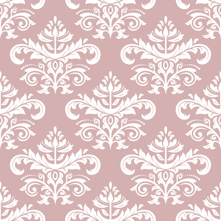 royal person: Oriental vector classic pattern. Seamless abstract background with repeating elements. Purple and white orient pattern