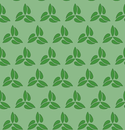 fine: Floral green ornament. Seamless abstract classic fine pattern Stock Photo