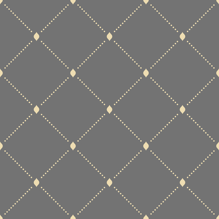 dotted lines: Geometric repeating vector ornament with diagonal dotted lines. Seamless abstract modern golden pattern Illustration