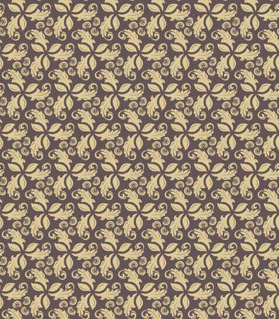 fine: Floral golden ornament. Seamless abstract classic fine pattern