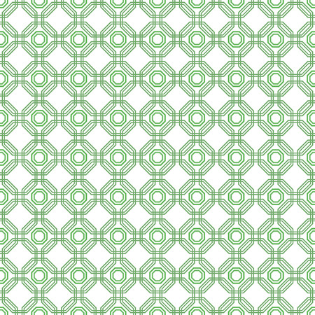 octagonal: Geometric green abstract vector octagonal background. Seamless modern pattern Illustration