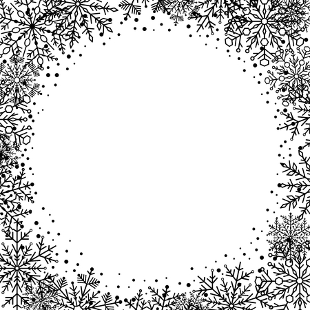 black dots: Nice frame with black dots and circle. Fine greeting card