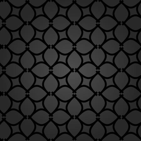 Seamless vector ornament. Modern geometric pattern with repeating elements. Dark modern pattern Illusztráció