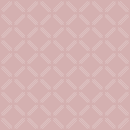 dotted lines: Geometric repeating vector ornament with diagonal dotted lines. Seamless abstract modern pattern. Purple and white pattern