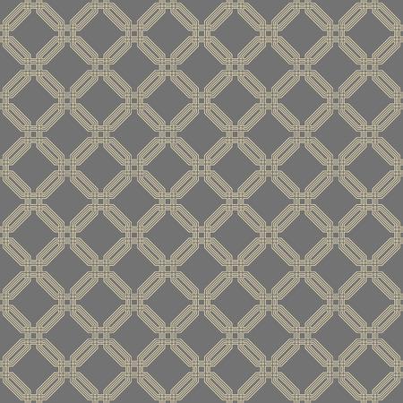octogonal: Geometric fine abstract vector octagonal background. Seamless modern pattern. Gray and golden pattern