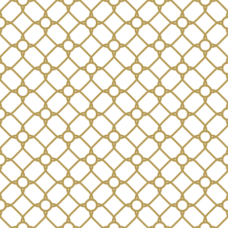 grid pattern: Geometric golden grid. Seamless fine abstract pattern Stock Photo