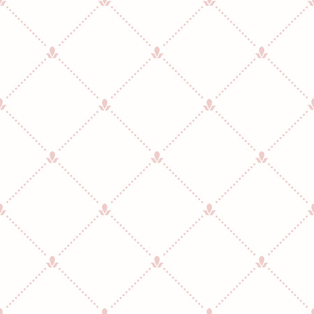 dotted lines: Geometric repeating vector ornament with diagonal dotted lines. Seamless abstract modern pattern. Light pink pattern Illustration