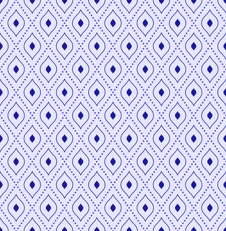 dotted lines: Geometric repeating vector blue ornament with diagonal dotted lines. Seamless abstract modern background Illustration