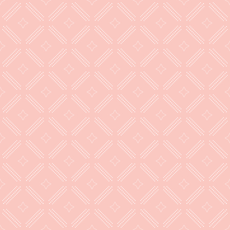 dotted lines: Geometric repeating ornament with diagonal dotted lines. Seamless abstract modern pink and white pattern Stock Photo