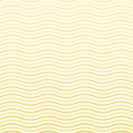 dotted lines: Geometric modern vector pattern. Fine ornament with wavy dotted lines. Golden pattern