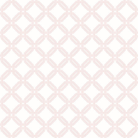 octagonal: Geometric fine abstract octagonal pink background. Seamless modern pattern