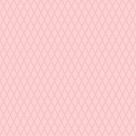 シームレスな背景。ピンクのひし形を繰り返すとモダンなボリューム幾何学模様