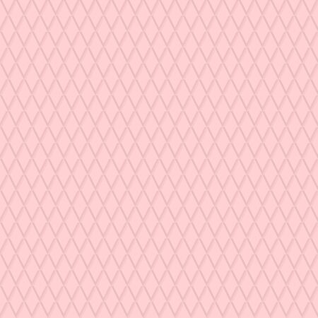 Seamless background. Modern volume geometric pattern with repeating pink rhombuses