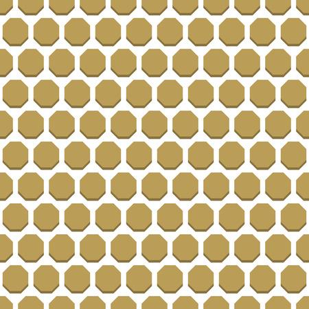 octagonal: Geometric fine abstract octagonal golden background. Seamless modern pattern