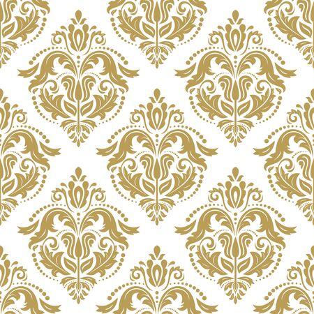 orientale Seamless pattern in stile barocco. Classico tradizionale vettore ornamento d'oro