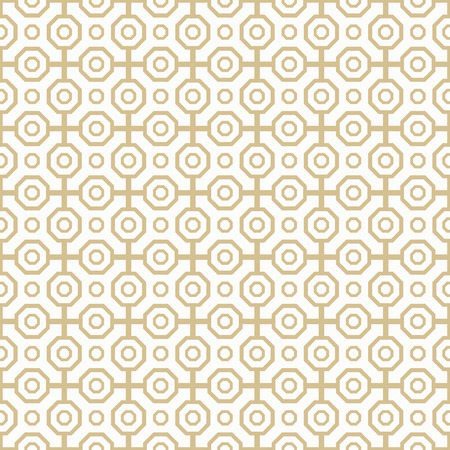octagonal: Geometric fine abstract vector octagonal background. Seamless modern pattern. Golden and white pattern