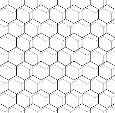 octagonal: Geometric fine abstract vector octagonal background. Seamless modern pattern. Black and white pattern Illustration