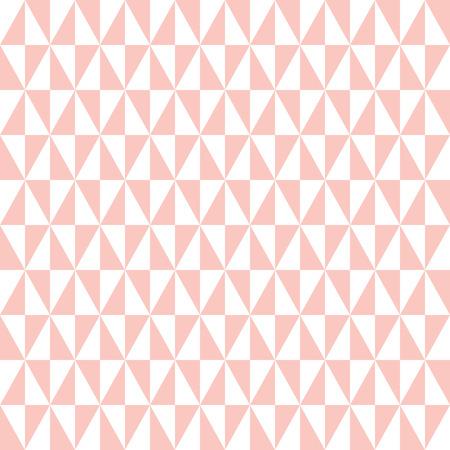 ピンクと白の三角形の幾何学的ベクトル パターン。シームレスな抽象的な背景  イラスト・ベクター素材