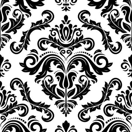 Senza soluzione di damasco vettore modello. Tradizionale classico oriente ornamento. modello in bianco e nero