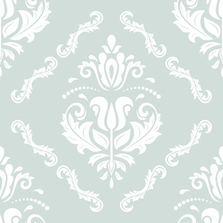 orient: Seamless damask vector pattern. Traditional classic orient ornament