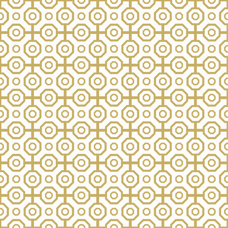 octagonal: Geometric abstract background. Seamless modern pattern. Golden octagonal pattern