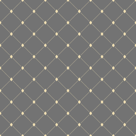 Geometric repeating pattern with diagonal dotted lines. Seamless abstract modern pattern. Gray and golden pattern. Dotted pattern. Geometric modern pattern Stock Photo