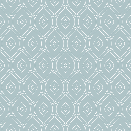 wite: Seamless vector ornament. Modern geometric pattern with repeating wite wavy lines Illustration