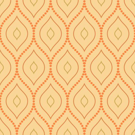 Seamless orange ornament. Modern geometric pattern with repeating elements Stock Photo
