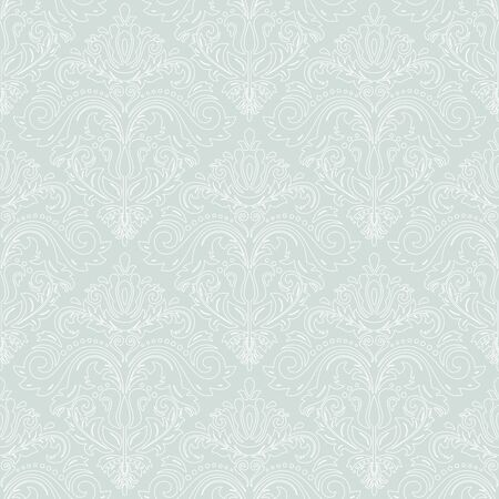 repeating background: Oriental classic pattern. Seamless abstract background with repeating elements, Light blue and white pattern