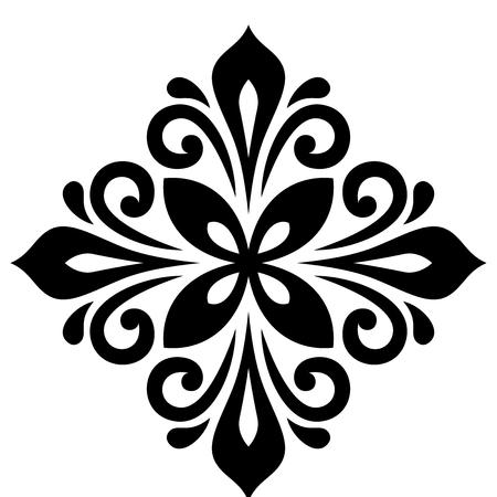 Orientalisches Muster mit Arabesken und floralen Elementen. Traditionelle klassische Ornament. Schwarz-Weiß-Muster Standard-Bild - 61906527
