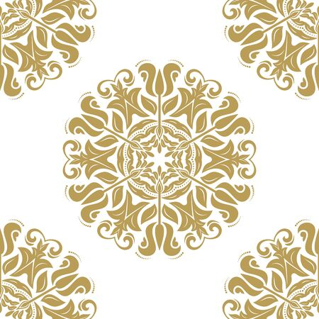 Seamless baroque vector golden pattern. Traditional classic orient ornament 版權商用圖片 - 62144319
