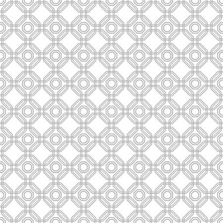 octagonal: Geometric fine abstract vector silver octagonal background. Seamless modern pattern