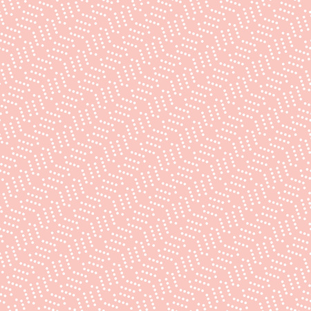 usual: Geometric vector pink pattern with white dotted elements. Seamless abstract background Illustration