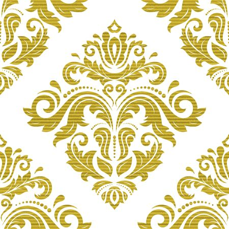 orient: Seamless baroque vector pattern. Traditional classic orient golden ornament