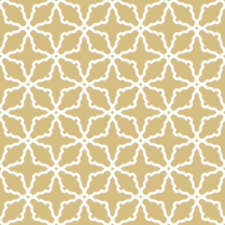 Naadloos vector gouden en wit ornament in Arabische stijl. Patroon voor achtergronden en achtergronden Stockfoto - 63460818