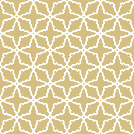 Seamless vector golden and white ornament in arabian style. Pattern for wallpapers and backgrounds