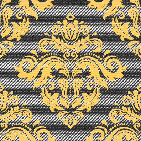 orient: Seamless classic vector golden pattern. Traditional orient ornament