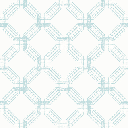 octagonal: Geometric repeating vector ornament with light blue octagonal dotted elements. Geometric abstract ornament. Seamless abstract modern pattern