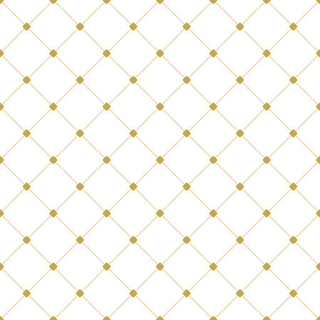 texture backgrounds: Geometric dotted vector golden pattern. Seamless abstract modern texture for wallpapers and backgrounds Illustration