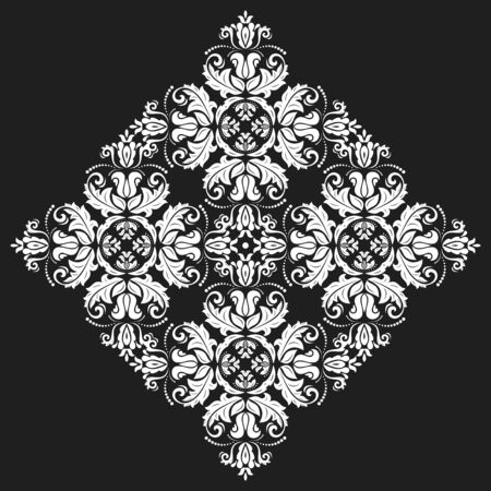 victorian christmas: Elegant vector white ornament in classic style. Abstract traditional pattern with oriental elements, Classic vintage pattern